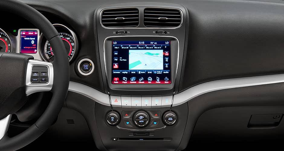 Journey Interior Uconnect Display on 2014 Dodge Journey Se Fwd