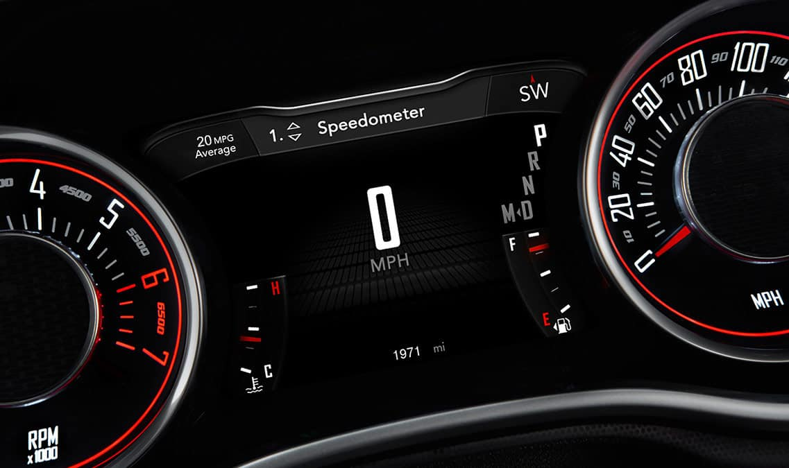 2016 Dodge Challenger SXT Digital Cluster Display