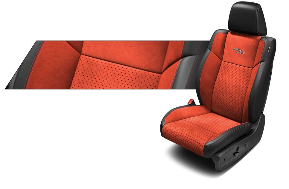 Red Suede Car Seat Covers