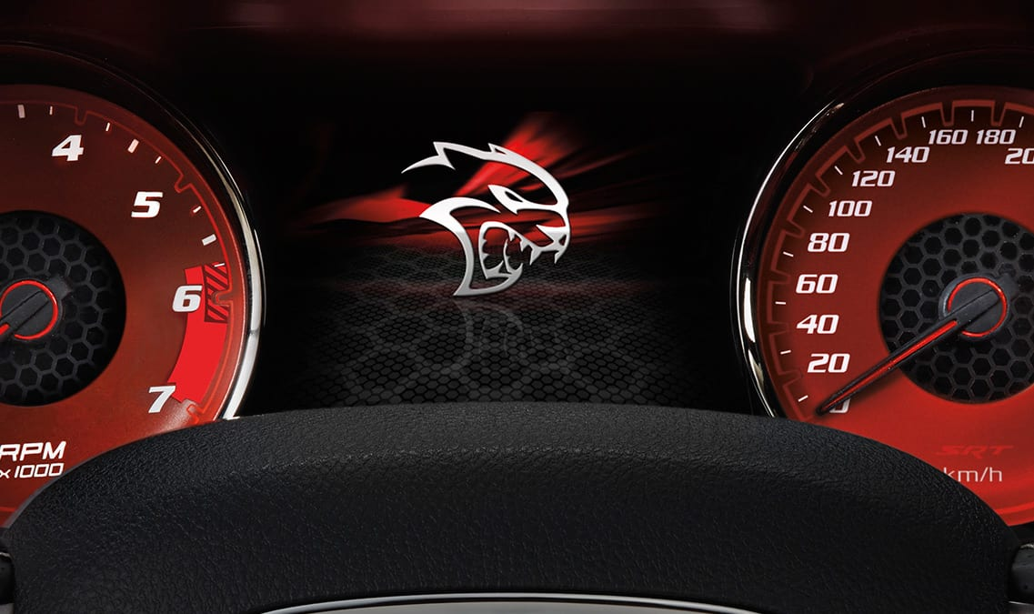 2016 Dodge Charger SRT Hellcat Digital Display Cluster