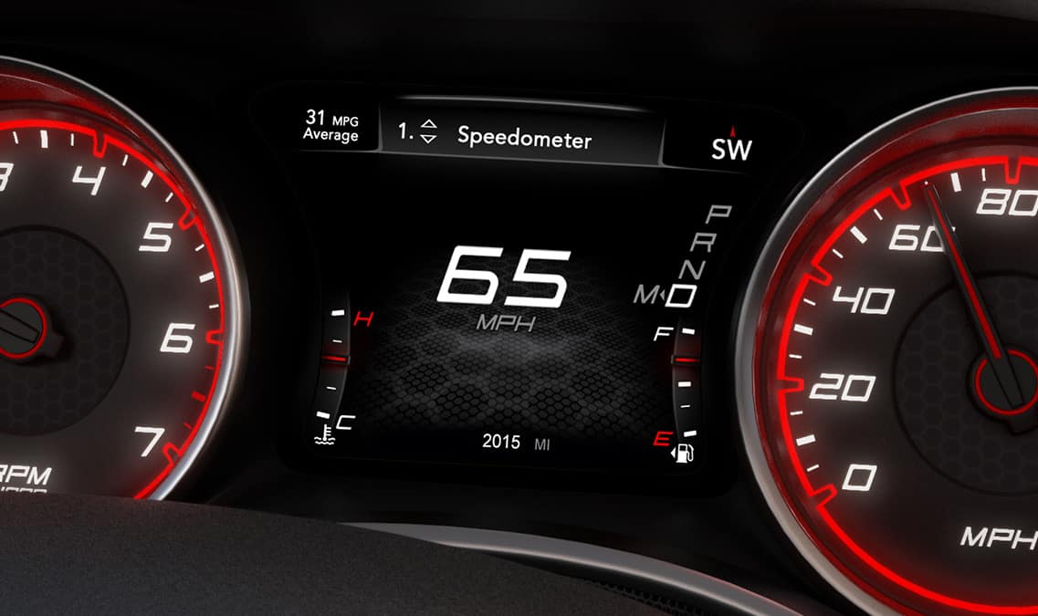 2016 Dodge Charger SXT Digital Display Cluster