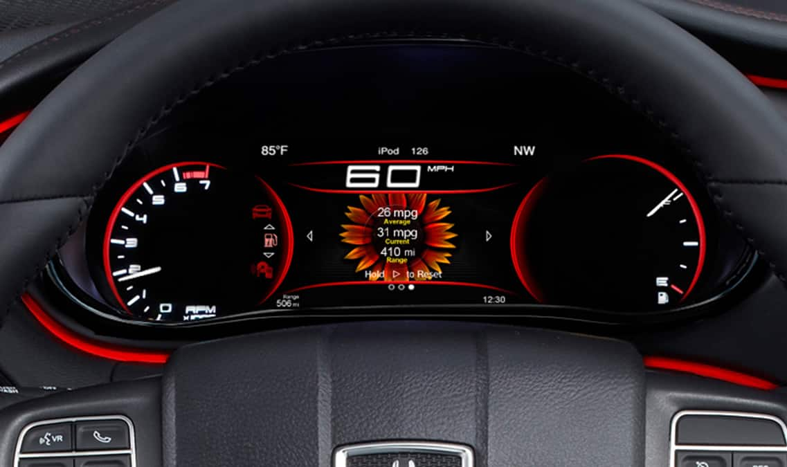 2016 Dodge Dart Limited Digital Cluster Display