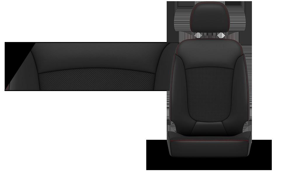 2016 Dodge Journey Capri Leather Trim Seat Black And Red