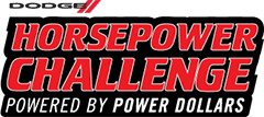 dodge horsepower challenger logo powered by power dollars